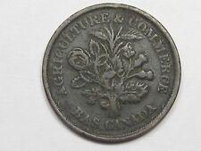 Lower-Canada Montreal Half Penny Token. Bouquet Sou. Breton 715. CANADA.  #50