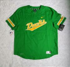 Men's Nike Oregon Ducks Two Button Vapor Performance Baseball Green Jersey