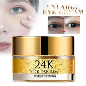 24K Gold Serum Anti Aging Wrinkle Eye Cream Remove Dark Circles Skin Care 20g..