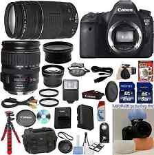 Canon EOS 6D Camera + 28-135 USM + 75-300 III + W/A + Tele + 24GB Bundle Kit