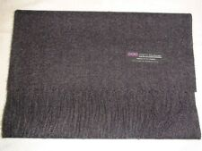 2 PLY New 100% Cashmere Scarf Solid Charcoal Gray Scotland Wool Men Women Wrap