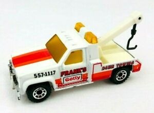 1987 Matchbox Frank's Getty GMC Wrecker Tow Truck Vintage Diecast   *Oc11