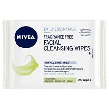 NIVEA DAILY ESSENTIALS Fragrance Free Facial Cleansing Wipes - 25 Wipes