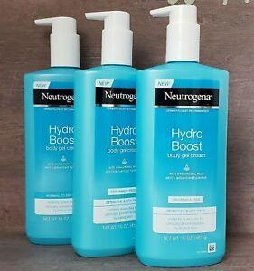 3-Neutrogena Hydro Boost Body Gel Cream for Sensitive & Dry Skin 16 oz.
