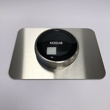 Nest thermostat Rectangular wall plate brush polished Stainless steel