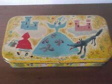 scatola anni Cinquanta in latta colorata PERUGINA Cappuccetto Rosso