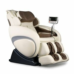 Taupe Osaki OS-4000T Executive Zero Gravity Massage Chair Recliner Foot Rollers