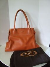 Authentic Tod's Orange Leather Tote Shoulder Bag with Dust Bag
