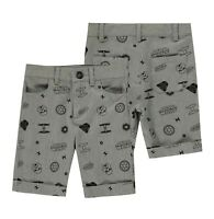 Boys Character Regular All Over Print Chino Shorts Sizes Age from 3 to 10 Yrs