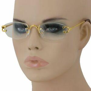 Narrow Tiny Oval Rectangle Rimless Clear Lens Sunglasses Hot Unisex Glasses 2020