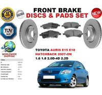 FOR TOYOTA AURIS HATCHBACK E15 E18 07-12 295MM FRONT BRAKE DISCS SET + PADS KIT
