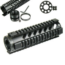 "7"" Free Float Handguard Picatinny Quad Rail with Front End Cap -  Black"