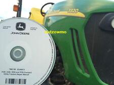 John Deere 3520, 3720 w/o cab tractor CD technical service tech manual TM2138