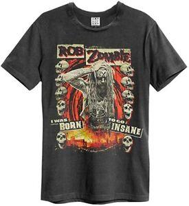 Amplified Rob Zombie - Born Insane - Men's Charcoal T-Shirt