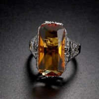 jubiläums - geschenk natürliche citrine verlobung 925 silber - ring ehering