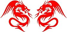 "Dragon Vinyl Car Decals Stickers Graphics (2 - 10"" x 10"" ) Design11"
