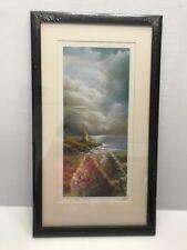 "A Silent Story Ireland With Frame Philip Gray Irish Artist 11.5""x20""New Sealed"