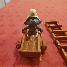 New ListingSmurfs Gardener Super Smurf with Wheelbarrow 40206 by Schleich & Ladder included