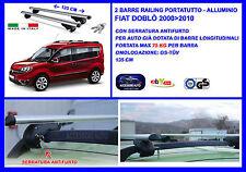 Barre Portatutto Portapacchi Alluminio - Chiavi Antifurto Fiat Doblò 2000>2010