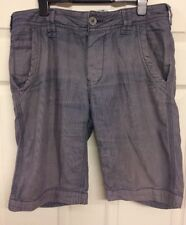 Fat Face Mens 100% Cotton Shorts Summer Blue Cargo Size 30 Button Fly Drawstring