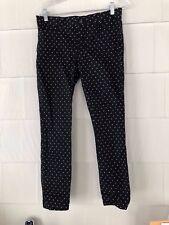 Gap womens Khakis size 2 Black and White polka dot slim city