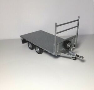 1/32 Ifor Williams Flat Trailer Conversion With Ladder Rack And Rear Mud Flap
