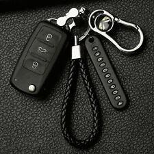 Car Keychain Anti-lost Phone Number Card Keyring Leather Bradied Number Plate