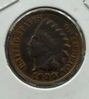 1900 Indian Head Cent Penny Nice coin VF / XF Brown