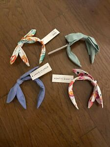 Janie And Jack Knot/Bow Headband Hair Accessories Lot NWT