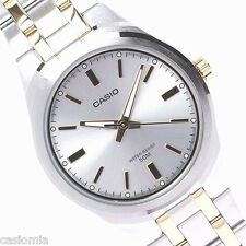 Casio MTP1310SG-7A Mens Two-Tone Gold Stainless Steel Dress Watch Silver Dial