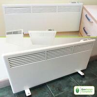 Slimline Nova Live S Wall or Floor Mounted White Electric Panel Heater Radiators