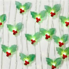 HOLLY BERRY  String Fairy Light Battery Operated Christmas Party Decor