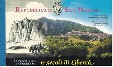 2000 San Marino Libretto 1700º Anno Fondazione Repubblica di S. Marino (MNH**)