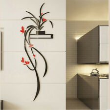 Red Orchid Flower 3D Acrylic Wall Sticker Self-adhesion Home Decor Living Room