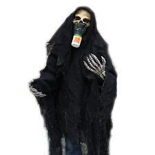 Survivor Grim Reaper skeleton Adult Halloween Costume Mask Gloves & Shirt