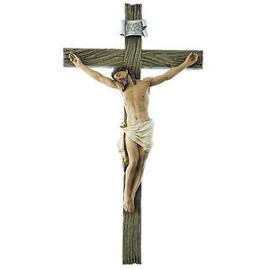 SALE! INRI Wall Cross Crucifix Religious Good Jesus Wooden Like 11359