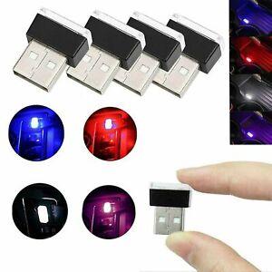 Universal Mini Flexible USB LED Car Interior Light Neon Ambient Lamp 5V WHITE