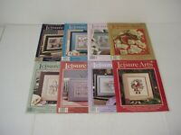 Lot of 8 Leisure Arts Magazines 1986 to 1989