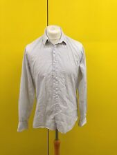 Mens DKNY Shirt - Medium - White With Blue Check - Great Condition