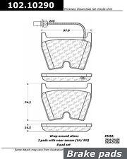 Centric Parts 102.10290 Front Semi Metallic Brake Pads