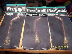 BernzOMatic Oxygen Acetylene Torch OA3000 Tips-Assorted Models