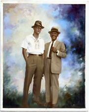 AFRICAN AMERICAN AND HIS BUDDY EXTREMELY SKILLFULLY COLORED IMAGE