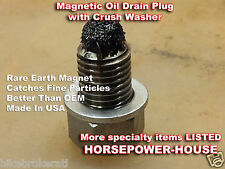 12mm MAGNETIC CRANKCASE OIL DRAIN PLUG BOLT @ CAN-AM SPYDER OEM PART 420241782