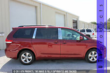 GTG 2011 - 2018 Toyota Sienna 6PC Chrome Stainless Steel Pillars Posts