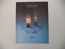 advertising Pubblicità 1990 OROLOGIO TABBAH SAGA