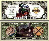 La LOCOMOTIVE BILLET MILLION DOLLAR US ! collection Chemin de Fer Train à Vapeur