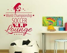 Soccer VIP - highest quality wall decal stickers