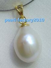 baroque 14x11 mm natural 14k gold  pearl  south sea pendant