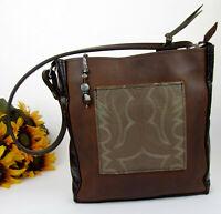 CUTE! Handmade Re-purpose Leather Tote Simple Hippie Styled Medium Hobo Bag