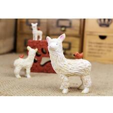 3x Miniature Flower Pot Bonsai Alpaca Dollhouse Ornament Multi-Color Decor
